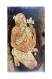 Painting of a Buddhist Monk from the Ajanta Cave Temples, India, 5th-6th Century Giclee Print