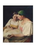 Fortune Telling, 1842 Giclee Print by Alexei Gavrilovich Venetsianov