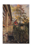 On the Balcony, 1912 Giclee Print by Matvei Markovich Zaytsev