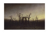 Abbey Among Oak Trees, Ca 1809 Giclee Print by Caspar David Friedrich