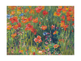 Poppies, 1888 Giclée-Druck von Robert William Vonnoh