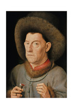 Man with Pinks, C. 1510 Giclee Print by  Jan van Eyck
