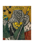 King of Clubs, 1915 Giclee Print by Olga Vladimirovna Rozanova
