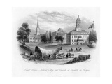 Court House - Medical College and Church, at Augusta in Georgia, 19th Century Giclee Print