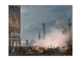 Arrival of Empress Elisabeth of Austria in Venice Giclee Print by Ippolito Caffi
