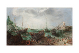 Harbour Scene, C. 1615 Giclee Print by Adam Willaerts