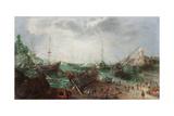Harbour Scene, C. 1615 Giclee Print by Adam Willaerts