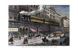 The Elevated Railway, Third Avenue, New York, 1879 Giclee Print