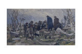 A Peasant Funeral Giclee Print by Ivan Ivanovich Tvorozhnikov