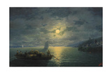 Crossing the Dnepr River at Moonlit Night, 1897 Giclee Print by Ivan Konstantinovich Aivazovsky