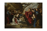The Raising of Lazarus Giclee Print by Simon de Vos