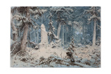 Snowy Forest, 1835 Giclee Print by Andreas Achenbach