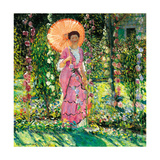Hollyhocks, C. 1912 Giclee Print by Frederick Carl Frieseke