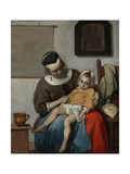 The Sick Child, Ca 1663 Giclee Print by Gabriel Metsu