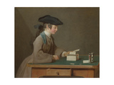 The House of Cards, C. 1736 Giclee Print by Jean-Baptiste Siméon Chardin
