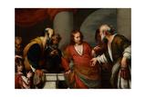 Der Zinsgroschen, 1630S Lámina giclée por Bernardo Strozzi