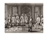 The French Freemasons Initiation Ceremony, 18th Century Giclee Print