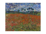 Poppy Field, 1890 Giclee Print by Vincent van Gogh