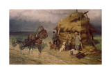 Hunters Caught in a Storm Giclee Print by Pavel Osipovich Kovalevsky