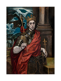Saint Louis IX of France Giclee Print by  El Greco