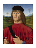 A Man with a Pink, C. 1495 Giclee Print by Andrea Solari