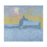 Winter Fog (Winter in Maloj) Giclee Print by Giovanni Giacometti