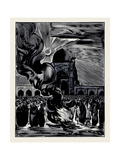 The Liberation of Muslim Women. Burning the Veil, 1928 Giclee Print by Alexei Ilyich Kravchenko