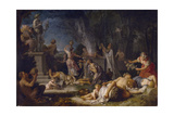The Offering to Bacchus, 1720 Giclee Print by Michel-ange Houasse
