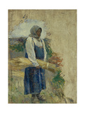 A Reaper, 1896 Giclee Print by Viktor Elpidiforovich Borisov-musatov