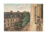View of the Alservorstadt, 1872 Giclee Print by Rudolf von Alt