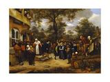 Village Wedding Giclee Print by Jan Havicksz Steen