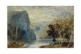 The Lorelei Rock, 1817 Giclee Print