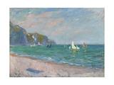 Bateaux Devant Les Falaises De Pourville, 1882 Giclee Print by Claude Monet