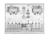 South View of the First Royal Exchange with Coats of Arms Above, City of London, 1819 Giclee Print
