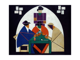 Card Players, 1916-1917 Giclee Print by Theo Van Doesburg