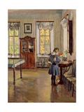In a House, 1913 Giclee Print by Sergei Arsenyevich Vinogradov
