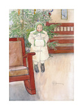 Girl and Rocking Chair, 1907 Giclee Print by Carl Larsson