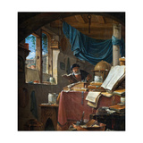 A Scholar in His Study Giclee Print by Thomas Wyck