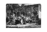 The Chessplayers, 1864 Giclee Print