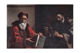 Diogenes and Plato, 1649 Giclee Print by Mattia Preti