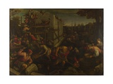 The Tower of Babel, Ca. 1600 Giclee Print by Leandro Bassano