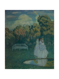 Park Bathed in Shadows, 1904 Giclee Print by Viktor Elpidiforovich Borisov-musatov