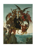 The Torment of Saint Anthony Giclée-tryk af Michelangelo Buonarroti