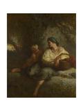 The Whisper, C. 1846 Giclee Print by Jean-François Millet