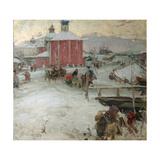 Winter, 1909 Giclee Print by Abram Yefimovich Arkhipov