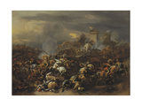 The Battle by Alexander the Great Against the King Porus Giclee Print by Nicolaes Berchem