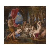 Diana and Actaeon, 1556-1559 Giclee Print by  Titian (Tiziano Vecelli)
