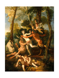 Pan and Syrinx, 1637 Giclee Print by Nicolas Poussin