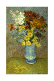 Flowers in a Blue Vase Giclee Print by Vincent van Gogh