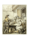 Savoyard with a Dancing Doll Giclee Print by Jean-Baptiste Greuze